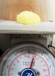 I like to weigh my butter, this is optional.  :)