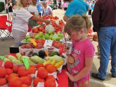 Addie checking out the goodness...