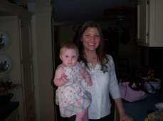 Addie and I ready for church when she was a baby.