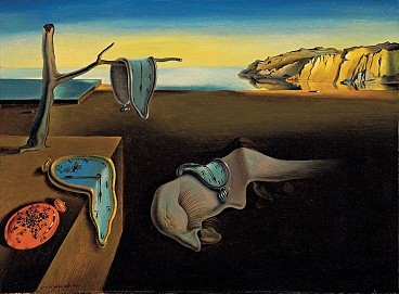 All my clocks, watches and timepieces feel like this painting by Salvador Dali.  My brain feel likes this too.......