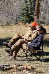Taking a rest, right before an entire herd of elk ran thru camp. Go figure.