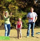 My mom, Addie and Stu celebrating a win!