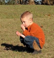 Cousin Kolt, picking his nose.