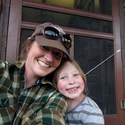 Addie and I at elk camp.