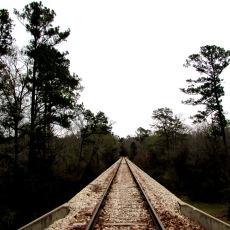 The train trestle.